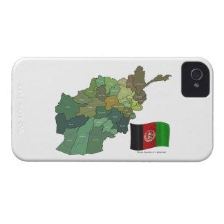 Karte und Flagge von Afghanistan iPhone 4 Hülle