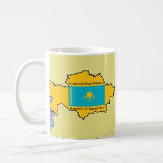 Karte und Flagge von Kasachstan Tasse