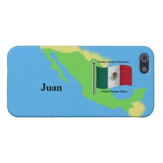 Karte und Flagge von Mexiko iPhone 5 Schutzhüllen