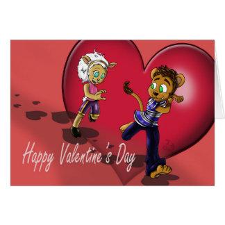 """Karte """"unsere Liebe"""" Valentines Tages"""