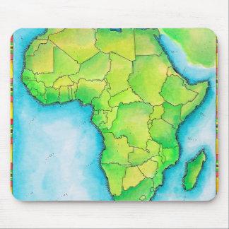 Karte von Afrika Mousepads