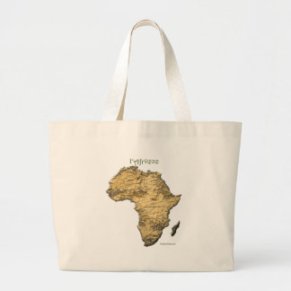 Karte von AFRIKA-Reihe Jumbo Stoffbeutel