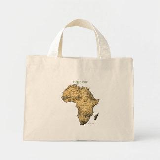 Karte von AFRIKA-Reihe Mini Stoffbeutel