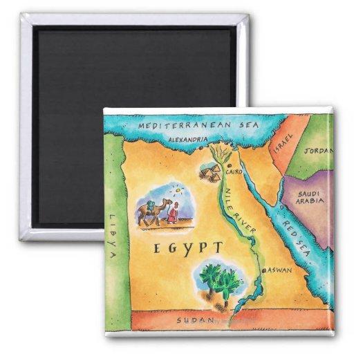 Karte von Ägypten Kühlschrankmagnete