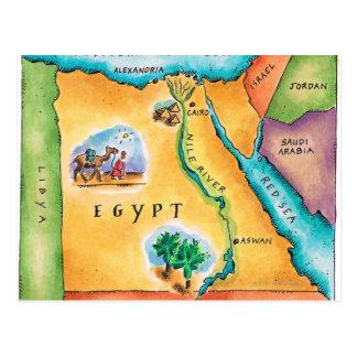 Karte von Ägypten Postkarte