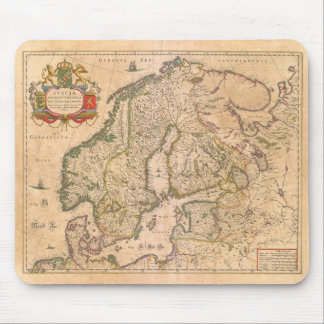 Karte von altem Skandinavien Mousepad