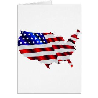 Karte von Amerika-amerikanischer Flagge