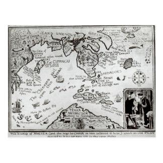 Karte von Amerika und von Richtungen zur China