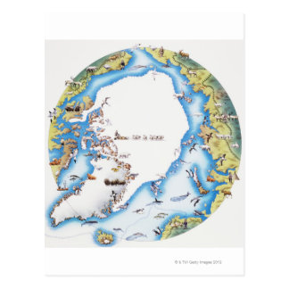 Karte von Arktis