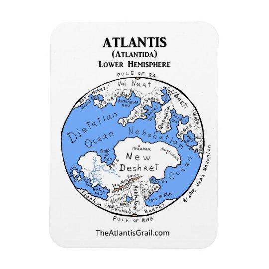 Karte Von Atlantis Niedrigere Hemisphare Magnet Zazzle De