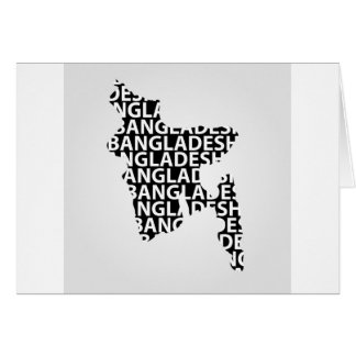 Karte von Bangladesch mit Text nach innen
