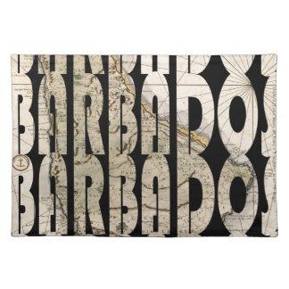 Karte von Barbados 1758 Tischset