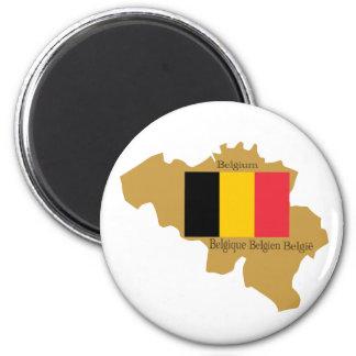 Karte von Belgien-Magneten Runder Magnet 5,7 Cm