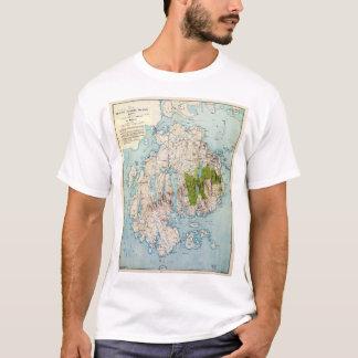 Karte von Berg-einsamer Insel, Maine (1917) T-Shirt