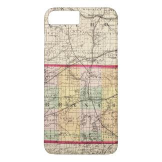 Karte von Branch County, Michigan iPhone 8 Plus/7 Plus Hülle