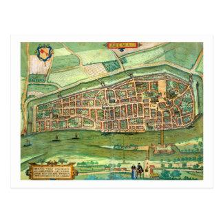 """Karte von Bremen, von """"Civitates Orbis Terrarum"""" v Postkarte"""
