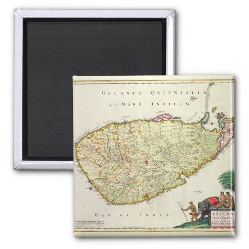 Karte von Ceylon entsprechend Nicolas Visscher Magnete