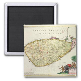 Karte von Ceylon entsprechend Nicolas Visscher Quadratischer Magnet