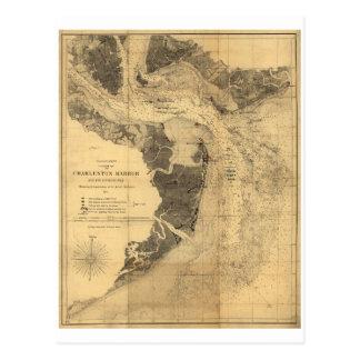 Karte von Charleston-Hafen South Carolina (1863)