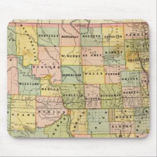 Karte von Dakota Mousepad