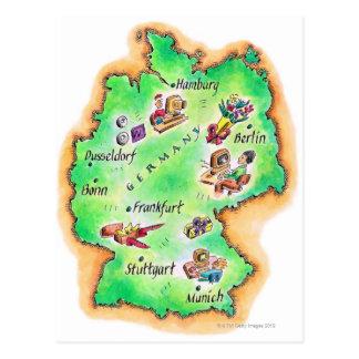 Karte von Deutschland Postkarten