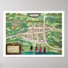 Karte von Edinburgh, von 'Civitates Orbis Terrarum Poster