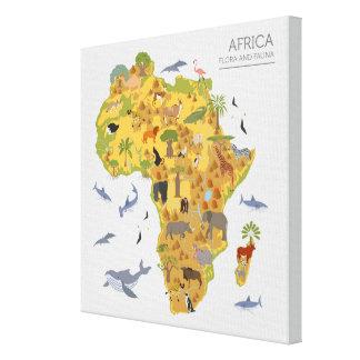 Karte von Flora u. von Fauna Afrikas   Leinwanddruck