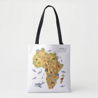 Karte von Flora u. von Fauna Afrikas | Tasche