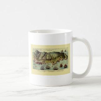 Karte von Gibraltar 1765 Kaffeetasse