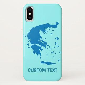Karte von Griechenland iPhone X Hülle