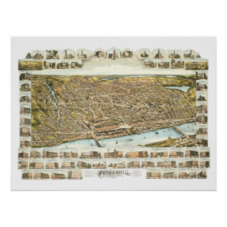 Karte von Haverhill Massachusetts ab 1893 Poster