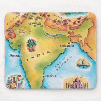 Karte von Indien Mauspad