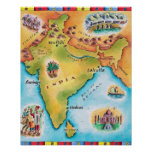 Karte von Indien Plakatdrucke