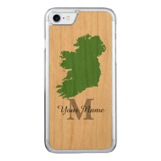 Karte von Irland mit Monogramm Carved iPhone 8/7 Hülle