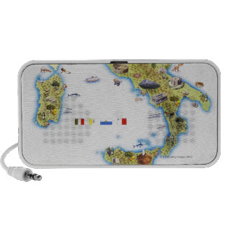 Karte von Italien Notebook Speaker