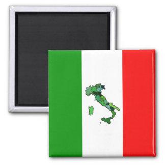 Karte von Italien und von italienischer Flagge Quadratischer Magnet