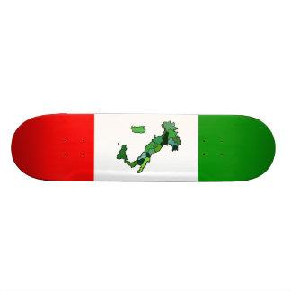 Karte von Italien und von italienischer Flagge Bedrucktes Skateboard