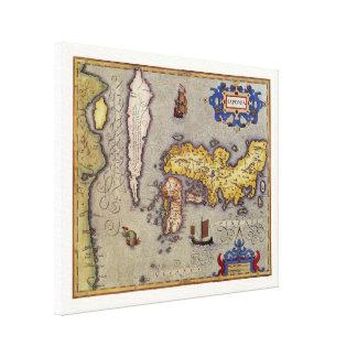 Karte von Japan durch Mercator und Hondius, 1606 Leinwanddruck
