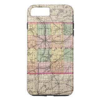 Karte von Kalamazoo County, Michigan iPhone 8 Plus/7 Plus Hülle