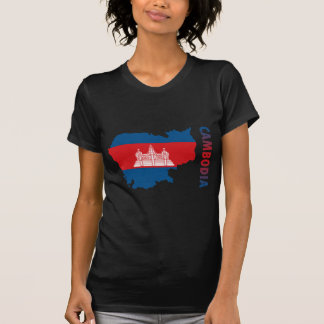 Karte von Kambodscha T-Shirt