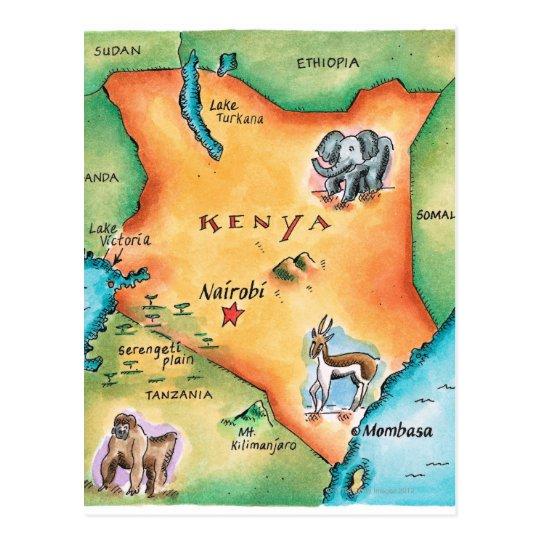 Kenia Karte.Karte Von Kenia