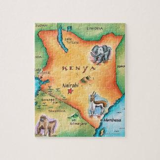 Karte von Kenia Jigsaw Puzzles