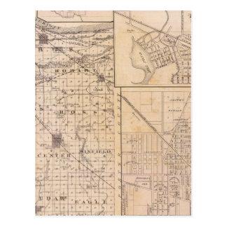 Karte von Lake County mit Lowell