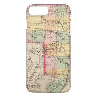 Karte von Landkreis St. Clair, Michigan iPhone 8 Plus/7 Plus Hülle