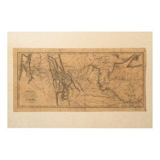 Karte von Lewis u. von Clark über Western Amerika Holzdrucke