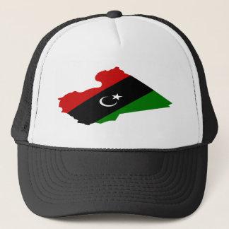 Karte von Libyen Truckerkappe
