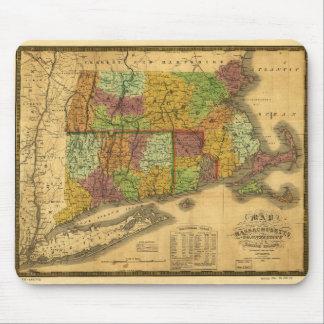 Karte von Massachusetts Connecticut und von Rhode Mousepad