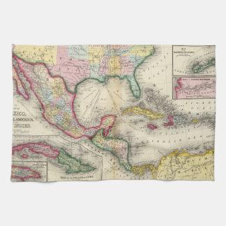 Karte von Mexiko, Mittelamerika Handtücher