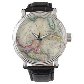 Karte von Mexiko, Mittelamerika Uhr