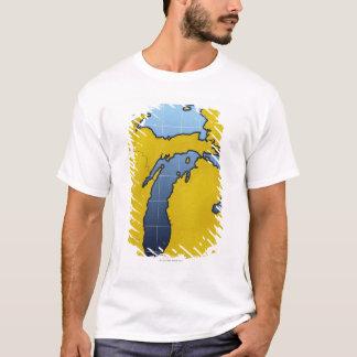 Karte von Michigan 2 T-Shirt